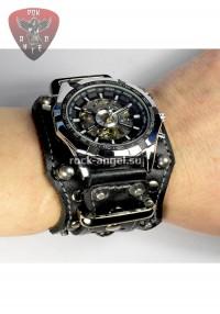 Часы с кожаным ремешком ручной работы