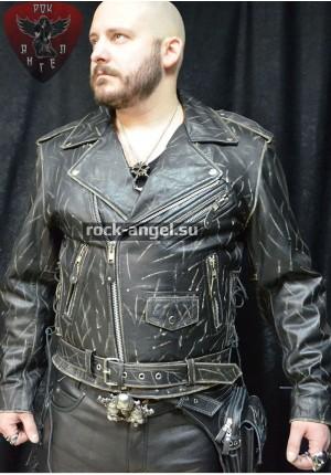 Куртка кожаная мужская FIRST GARMENTS М771 тертая