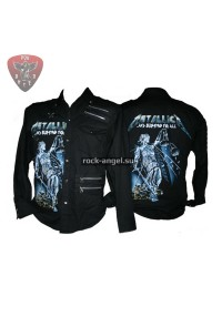 "Рубашка ""Metallica - and justice for all"" с длинным рукавом"