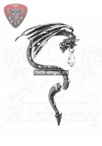 Жизненная сила кобры серьга-гвоздик